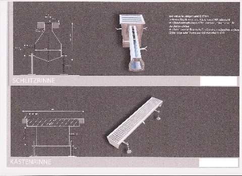 Schlitz- und Kastenrinnen / Abflussrinne in VA4 Edelstahl, die hygienischste, beständigste und sauberste Lösung für Ihren Abfluss