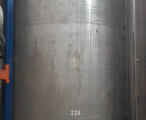 1x 20.000 ltr. VA Lagertank, gebraucht, rund stehend auf Füßen